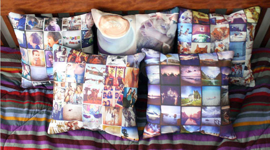 Photo of pillow on bed.